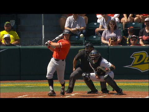 Recap: Oregon State baseball knocks off Oregon, claims Civil War series
