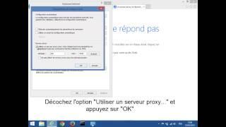 Le serveur proxy ne répond pas (Solution N°1)