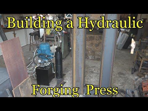 hydraulic forging press build