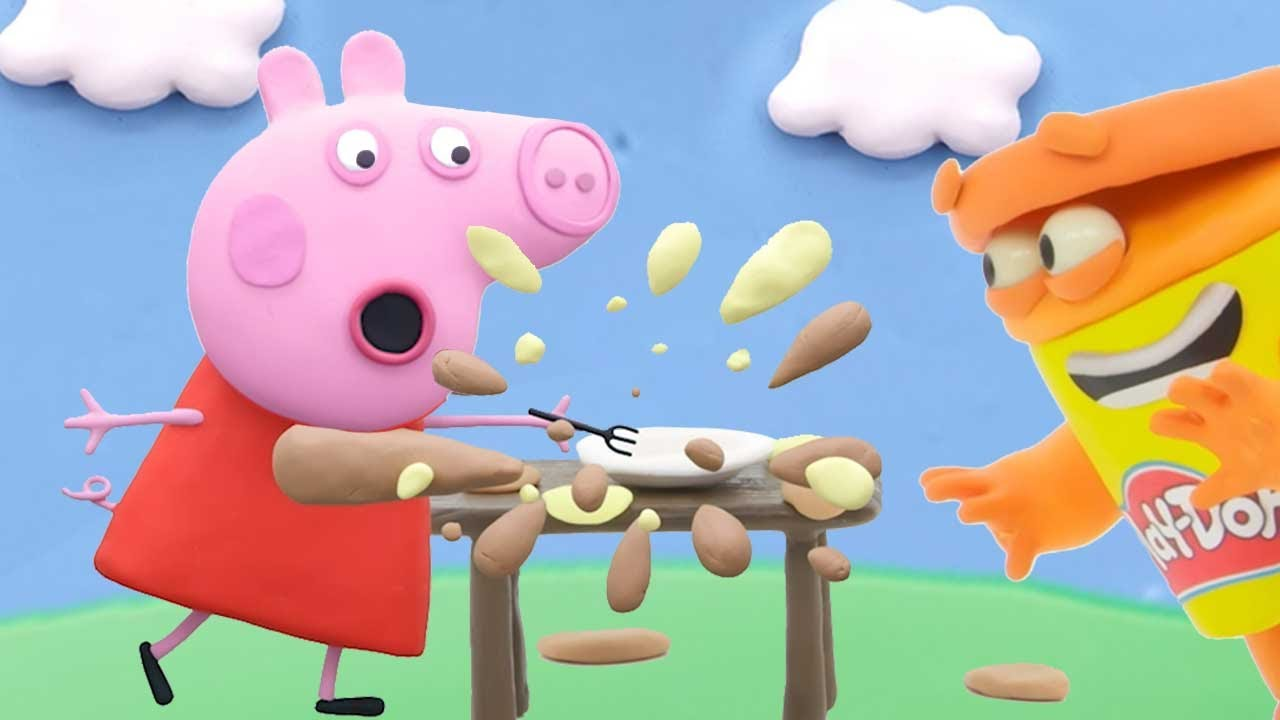 Peppa Pig Official Channel | Peppa Pig Whistling | Play-Doh Show Stop Motion