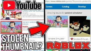 They Stole My Thumbnail For a Yandere Simulator Roblox Game?!?! - Yandere Simulator Roblox