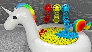Piłki w basenie Jednorożec - Nauka kolorów dla dzieci   CzyWieszJak