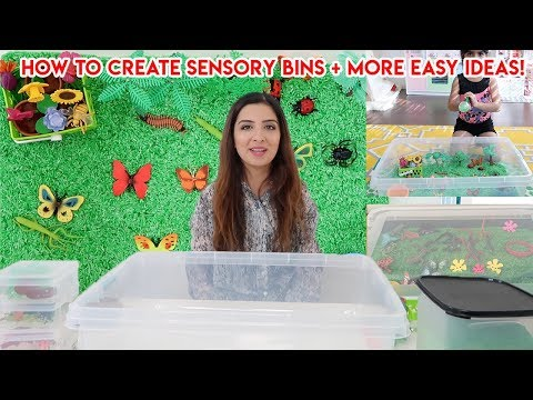 DIY Toddler Learning Activities | Sensory Bins For Toddlers + Preschoolers