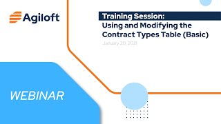 Using and Modifying the Contracts Type Table (Basic)