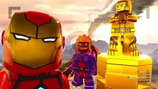 LEGO Marvel Super Heroes 2 - Dynasty Downer Challenge (All 10 Gold Kang Statues Destroyed)