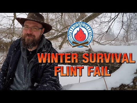 WINTER SURVIVAL – FLINT FAIL ★ Can We Survive