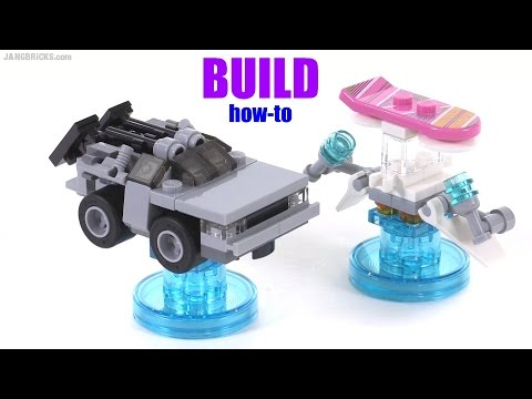 Build With Me Lego Dimensions Back To The Future Delorean