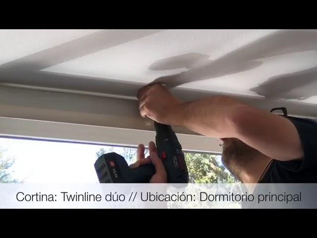 Instalación cortinas Twinline Dúo