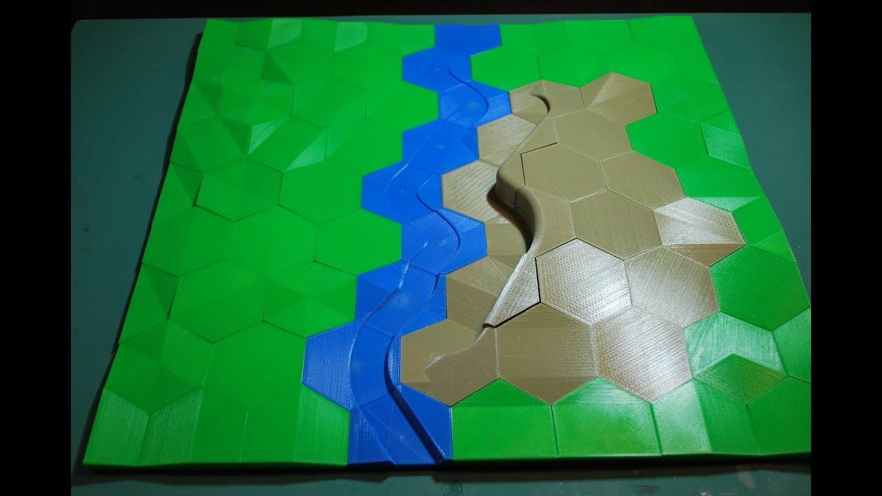 Terrain Showcase: HexT 3d Printable RPG/Battlefield Modular Terrain Tiles