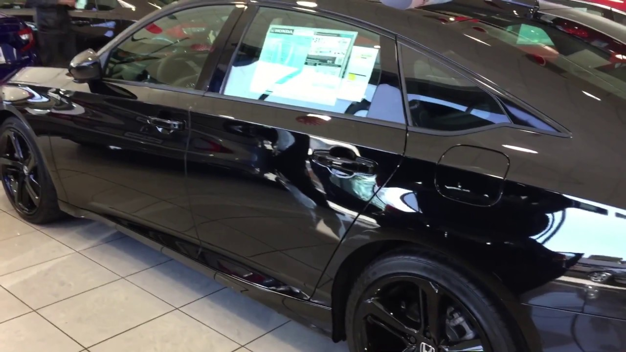 Honda Accord Sport >> New Honda Accord Sport Black Edition - YouTube