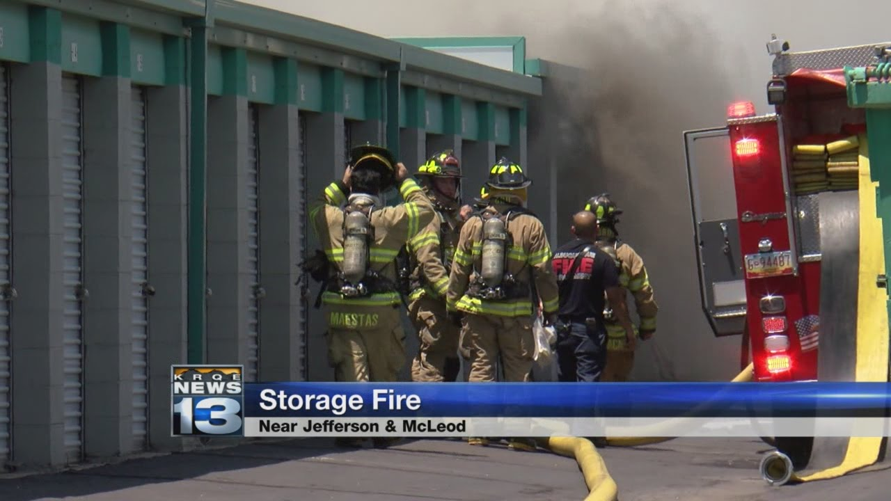Crews respond to Albuquerque storage unit fire & Crews respond to Albuquerque storage unit fire - YouTube