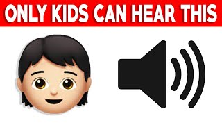 Only KIDS Can Hear This Sound..