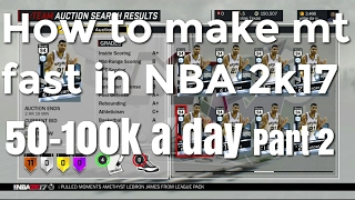 How to make mt fast in NBA 2k17 part 2