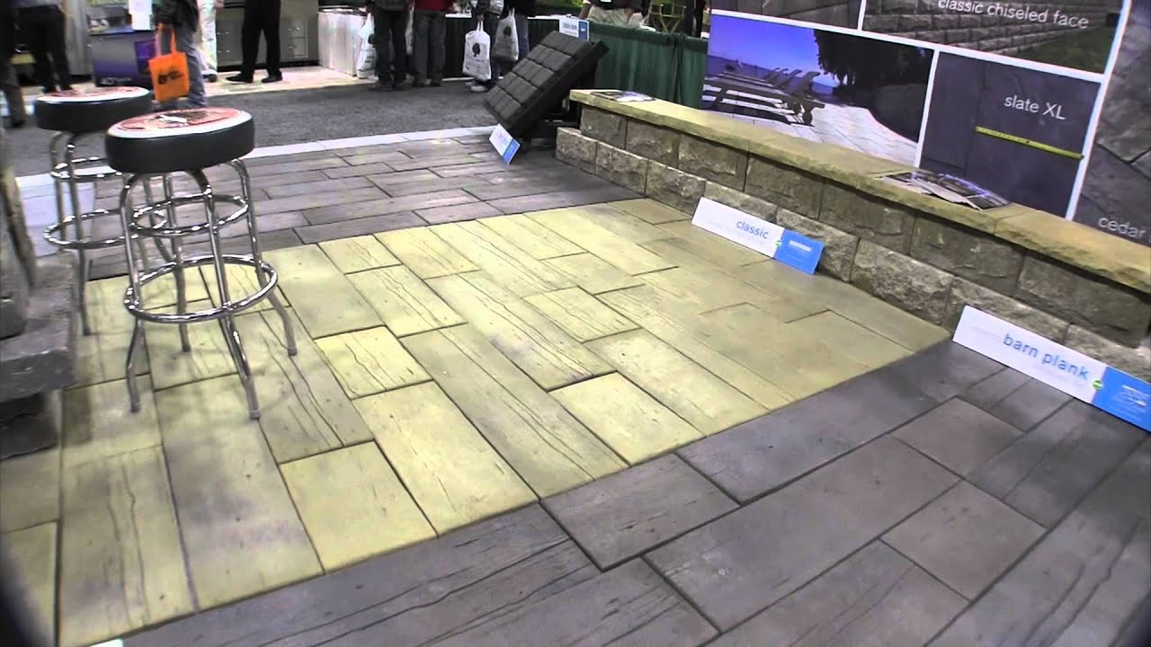 Rochester Concrete Products Barn Planks for decks and