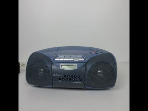 Cassette Recorder AM//FM Radio Sony Portable Stereo BOOMBOX with CD Player MP3