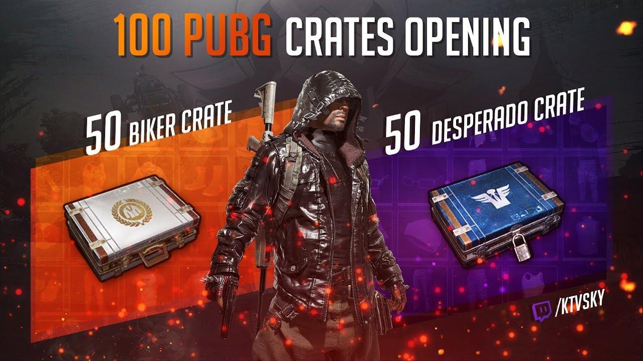 100 PUBG CRATES OPENING  DESPERADO   BIKER CRATE  - YouTube 5fab32dc2
