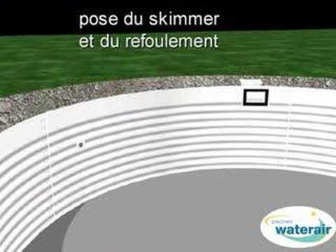 Montage 3d d 39 une piscine waterair youtube for Une piscine