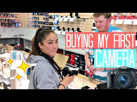 BUYING MY FIRST CAMERA! (DAD SURPRISES ME!)