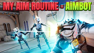 MY PERFECT VALORANT AIM ROUTINE GIVES *AIMBOT* - Valorant Radiant Aim Guide / Warmup