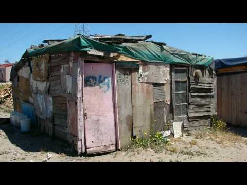 Two townships (Langa and  Khayelitsha) of Capetown, South Africa