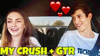 PICKING UP MY HIGH SCHOOL CRUSH IN MY NISSAN GT-R 700HP | BEST LAUNCH REACTION