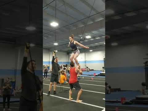 Partner Acrobatics training with Nathan Price