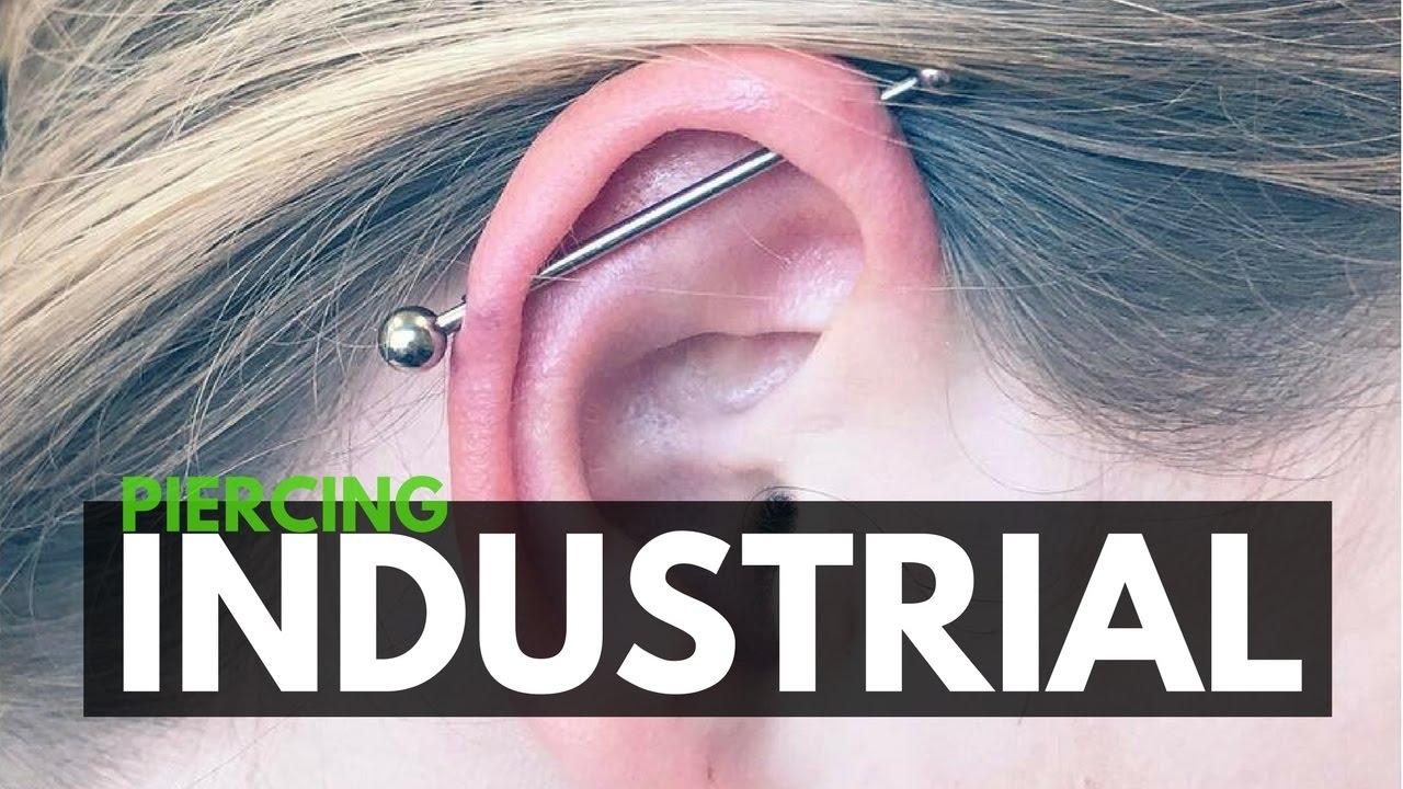Piercing Industrial O Transversal Cómo Se Hace Youtube