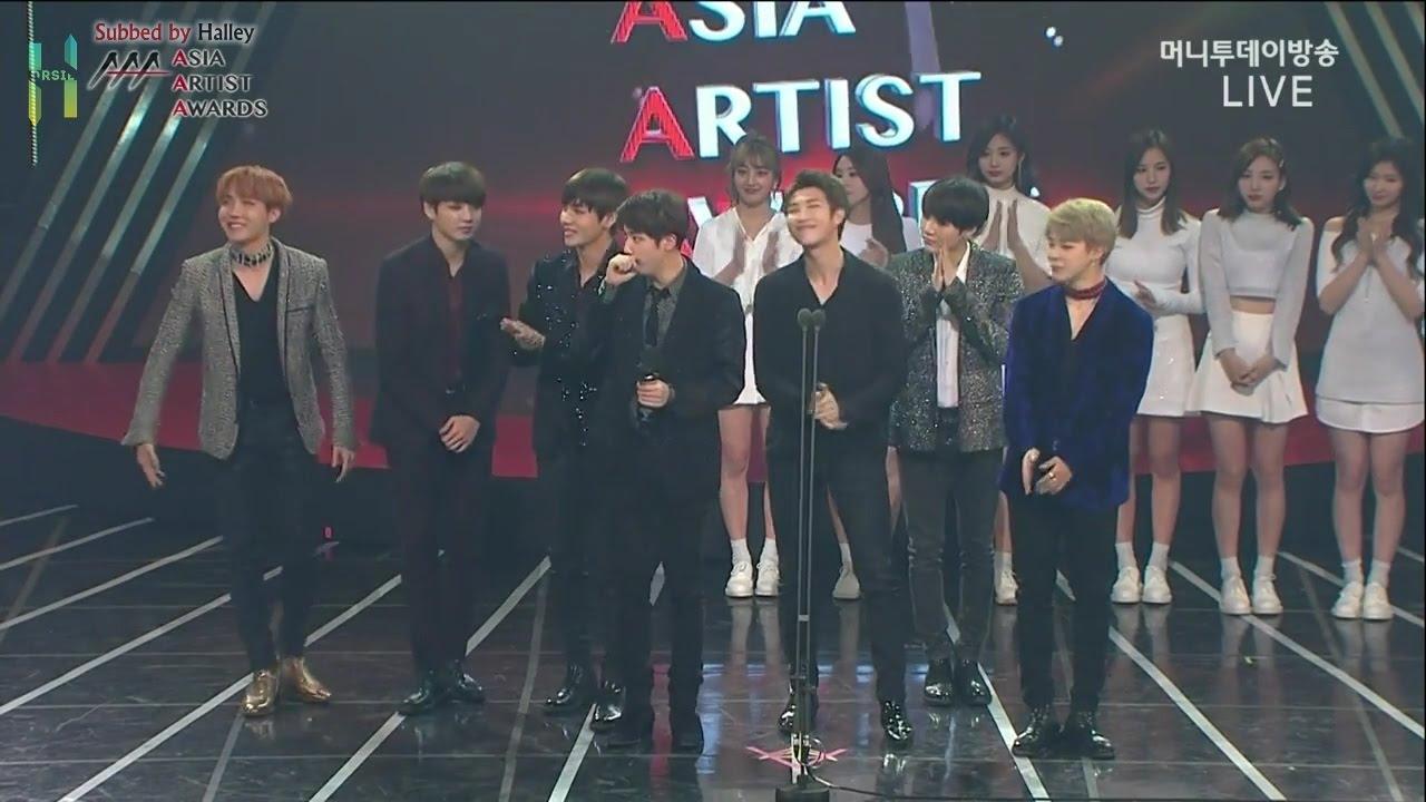 """Download [VIETSUB/ENGSUB] [161116] BTS (방탄소년단) winning """"Best Artist Award"""" @ AAA"""