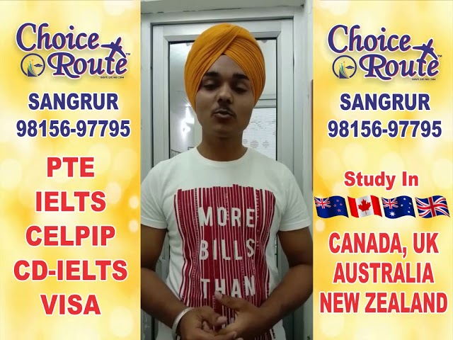 Congratulations JASPREET SINGH -Choice Route is the Best PTE and IELTS institute in Sangrur City.