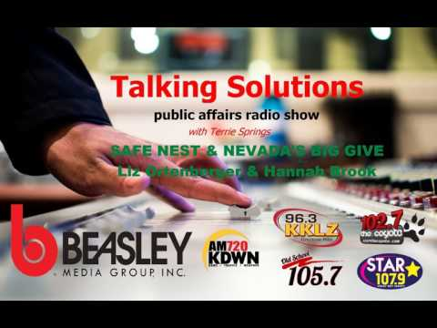 Talking Solutions - Safe Nest and Nevada's Big Give