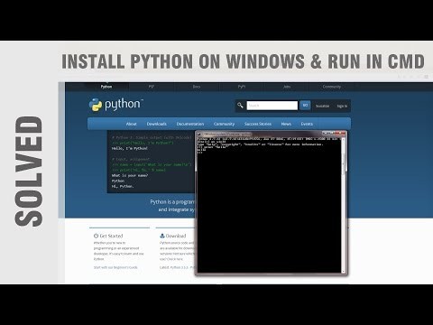 How to Install Python on Windows and run in cmd (solved)