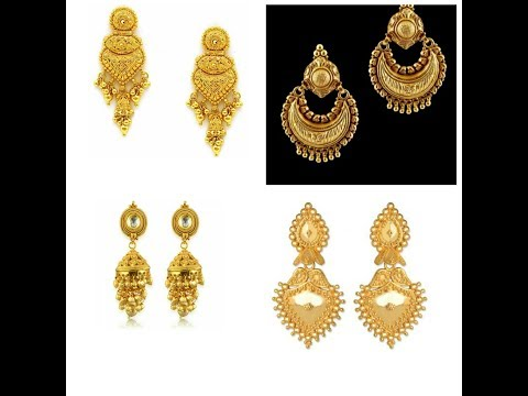 New Gold Earring Designs Latest 2017