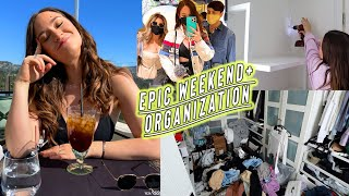 epic weekend vlog + closet organization!!