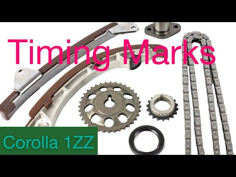 How to✅fix timing Chain mark Of Corolla (1ZZ-FE) 2008