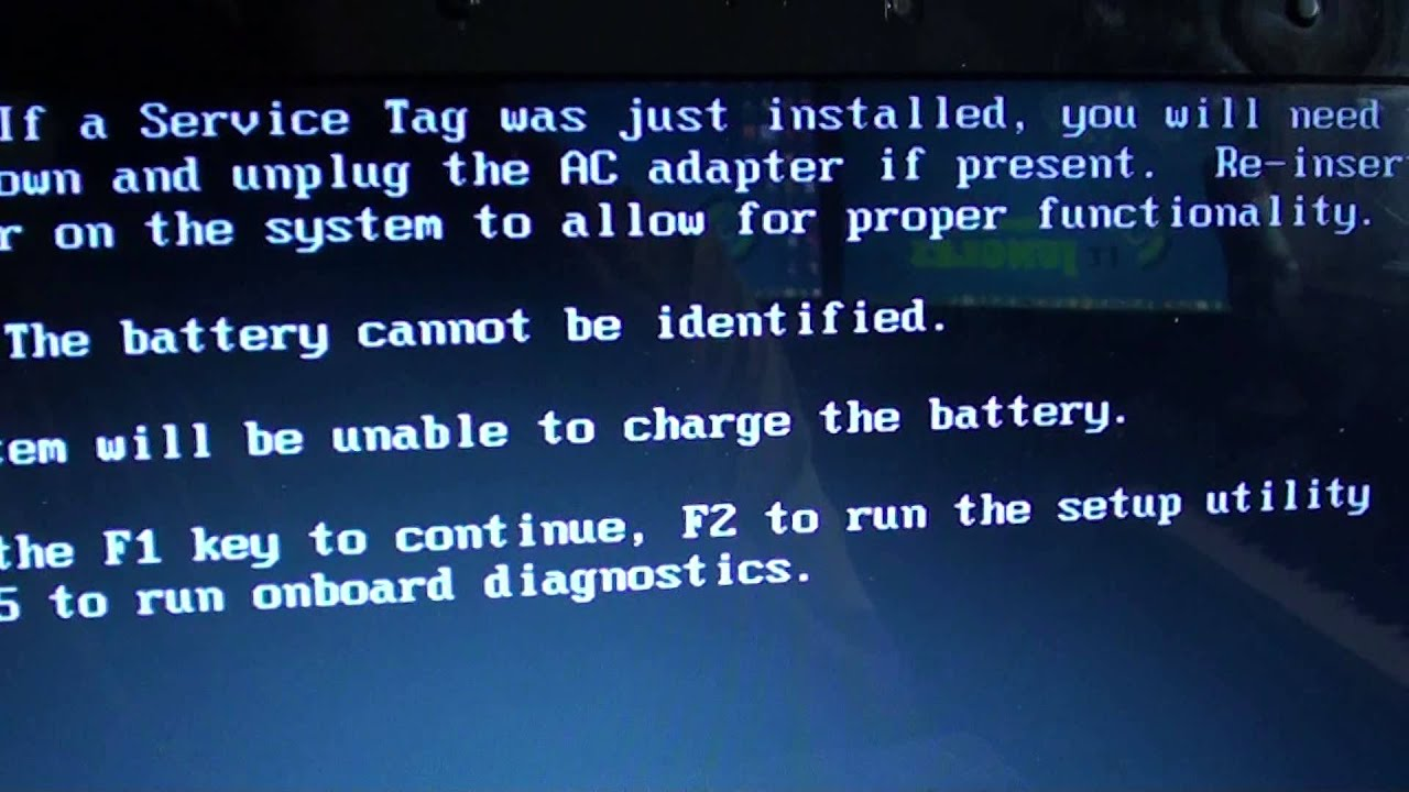 Dell Laptop Warning The Battery Cannot Be Identified 4