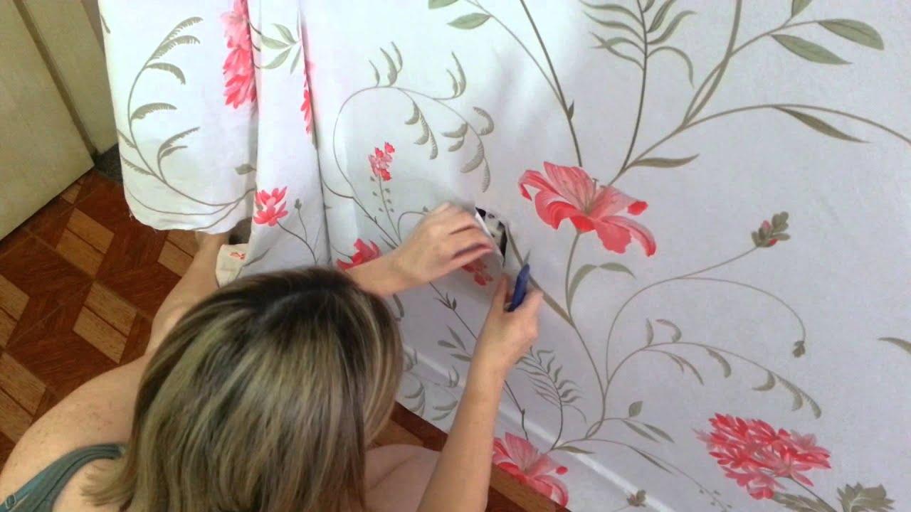 Passo a passo revestimento de tecido em parede youtube - Revestimiento de pared ...