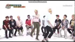 EXO Luhan Sehun Kai kicking butt