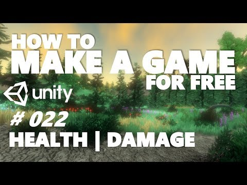HOW TO MAKE A GAME FOR FREE #022 - HEALTH + TAKING DAMAGE - UNITY TUTORIAL thumbnail