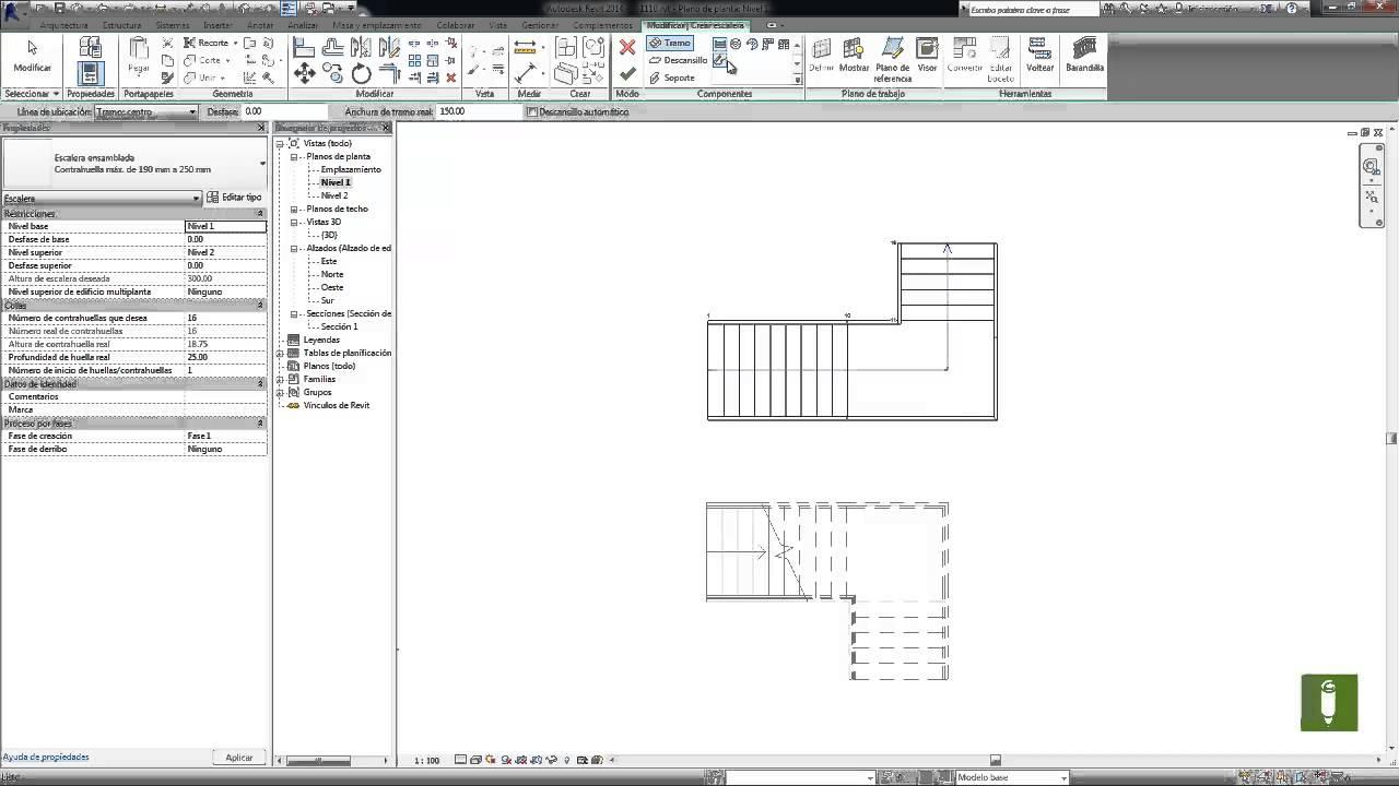 Dise ar una escalera por componentes parte 1 de 3 bibliocad for Partes de una escalera