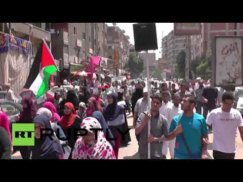 Egypt: Rounds fired as pro-Palestine protesters clash with police
