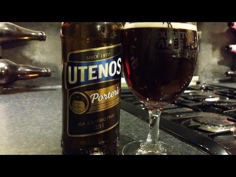 (4K) Utenos Porter / Utenos Porteris Utenos Baltic Beverages Holding | Lithuanian Craft Beer Review