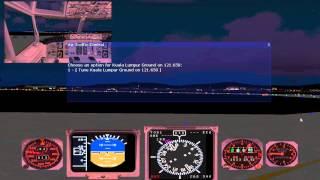 FS9/FS2004:Flight from Singapore to Kuala Lumpur.(Part 2.)