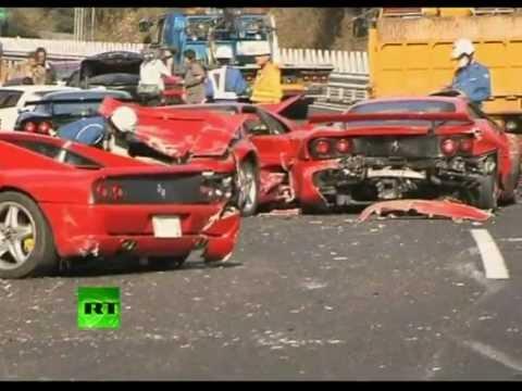 Ferrari Graveyard Video Of Supercar Pile Up In Japan Youtube