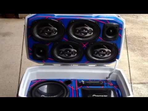 Ice chest cooler sound system, excellent sound quality!!!!!!