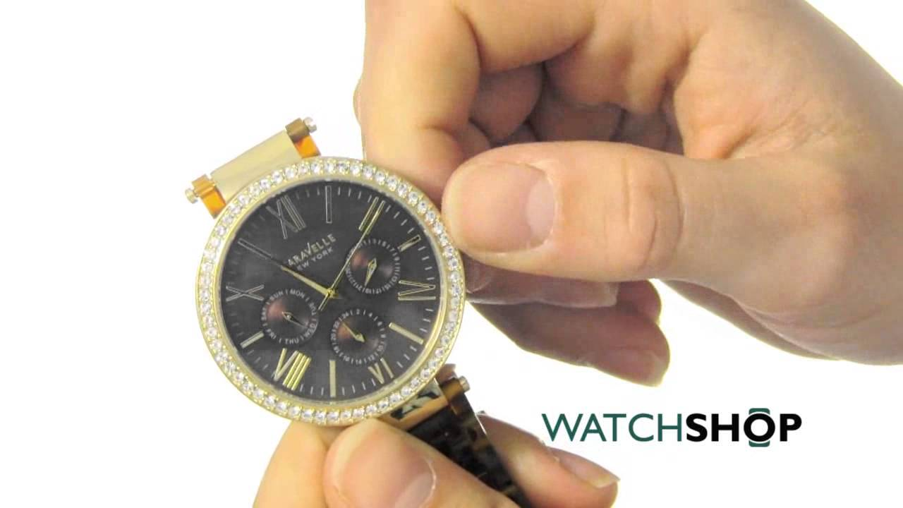 659bf2d10 Caravelle New York Ladies' Glitz Watch (44N102) - YouTube