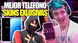 NINJA opens the NEW GALAXY S10+ *EXCLUSIVE SKIN* - Fortnite's 2019 VENGANZA!!!