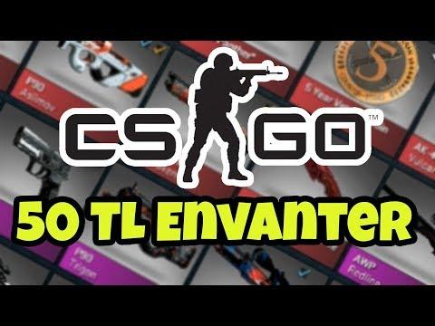 Counter Strike GO da 50 TL ye ENVANTER dizme !