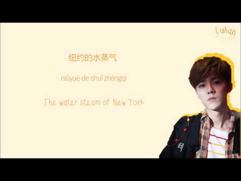 LUHAN 鹿晗 - 微白城市 Winter Song Color-Coded-Lyrics Chi l Pin l Eng 歌词 by xoxobuttons
