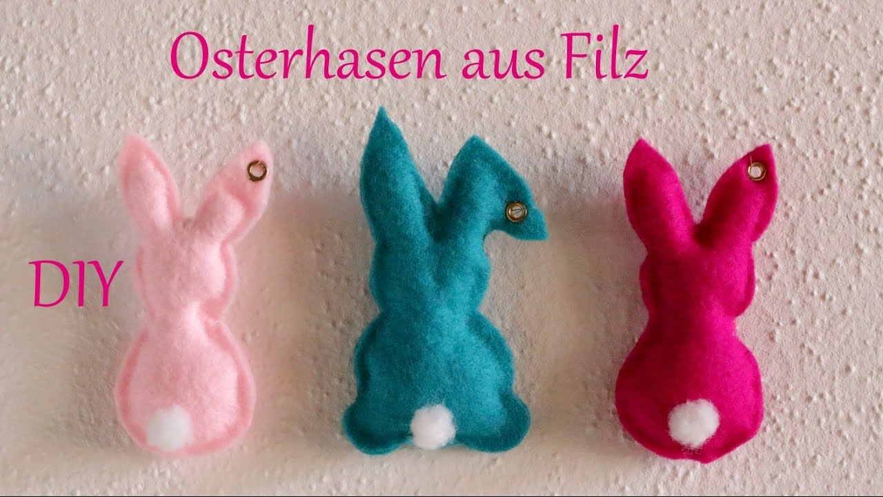 diy osterhasen aus filz ohne n hen osterdeko just deko youtube. Black Bedroom Furniture Sets. Home Design Ideas