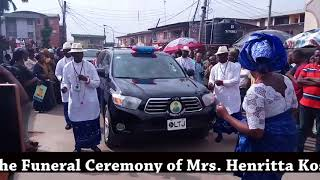LTJ Funerals International - The funeral of Mrs  Henritta Kosoko